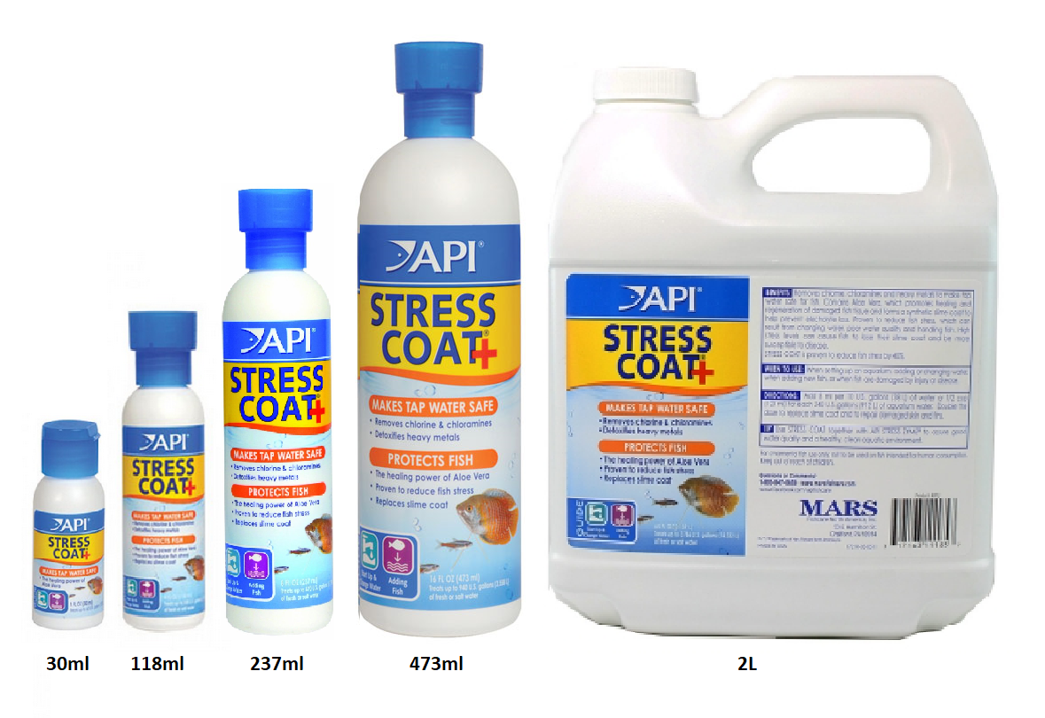 Seaview aquarium centre api stress coat for How to make tap water safe for fish without conditioner