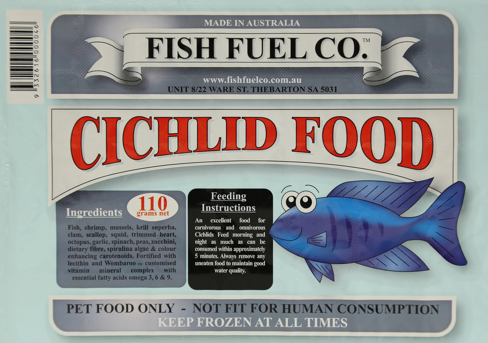 Seaview aquarium centre fish fuel co cichlid 110g for Cloudy water in fish tank solutions